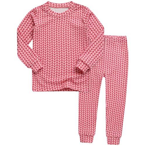 Conjunto de pijama para niños y niñas con estampado de hojas a rayas, suave, cómodo, pijama + pantalones para estar en casa 6M-4T