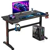 Computer Desk,Gaming Desk 45.2'/47.2'' Student PC Desk Office Desk Writing Desk Extra Large Modern Ergonomic Racing Style Table Workstation Carbon Fiber Cup Holder Headphone Hook (47.2 inches)