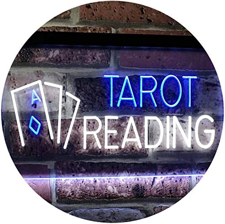 ADVPRO Tarot Reading Dual Farbe LED Barlicht Neonlicht Lichtwerbung Neon Sign Weiß & Blau 16  x 12  st6s43-i0446-wb