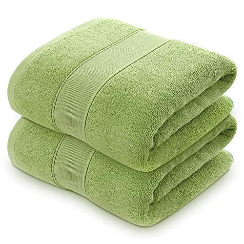 Lirex Juego de Toallas de Baño (Paquete de 2), Ultra Suaves 650 gsm, Toallas de Ducha de Hoja de Baño para Baño, 100% Algodón de Grapas Largas, Verde