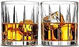 Set di Vetro di Whisky de decantatore di Whisky di 2, Occhiali da Whisky di Design Striped Squisito, for Bourbon Scotch& Oldfashioned Cocktails Whisky Set