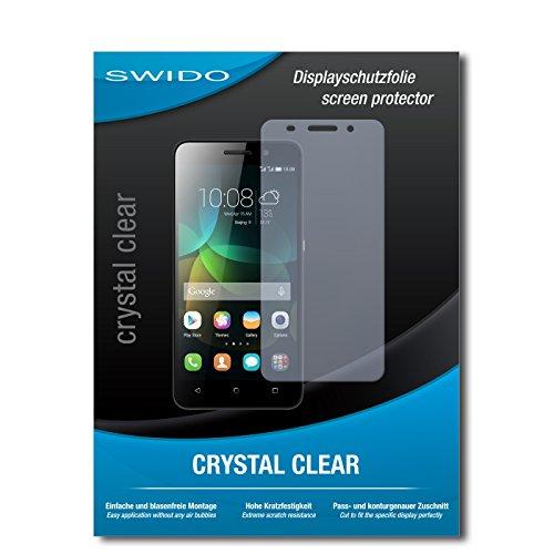 SWIDO Bildschirmschutz für Huawei Honor 4c [4 Stück] Kristall-Klar, Hoher Härtegrad, Schutz vor Öl, Staub & Kratzer/Schutzfolie, Bildschirmschutzfolie, Panzerglas Folie