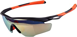 Bright Colorful Polarized Unisex Sports Sunglasses Cycling Baseball Running Fishing Golf Eyeglasses (Color : Orange)