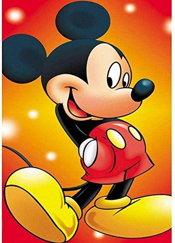 Rompecabezas de madera 1000 piezas Anime Mickey Mouse team building juego de descompresión material de protección ambiental gran rompecabezas