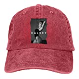 Halsey Adult Cowboy Hat Adjustable Casquette Classic Trucker Hat Red One Size