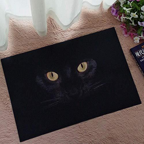 Zerbino con motivo gatto nero, in gomma, resistente e robusto, 1, 40 x 60 cm