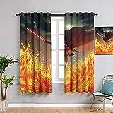 Sdustin Star-Wars - Cortinas con impresión para dormitorio (152 x 213 cm), diseño de sable de luz de la fuerza despierta, cortinas impermeables para cuarto de baño