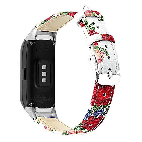 Para la correa de banda de reloj de cuero para Samsung Galaxy Fit SM-R370 Smart pulsera reloj de pulsera de reemplazo (Color : 5)