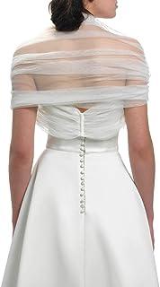 Zauberkutsche Stola Schal Tüll Cape Blush Ivory Tube Brautjacke Jacke Poncho Tuch Braut Hochzeit Brautkleid Tüll