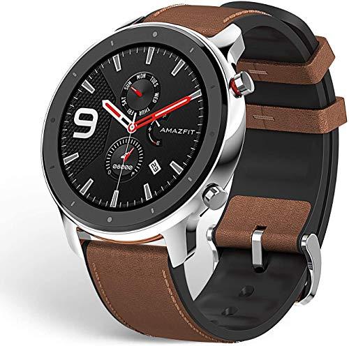 Amazfit GTR Reloj Smartwatch Deportivo | 20 días de batería | AMOLED de 1.39' | GPS + GLONASS | Frecuencia cardíaca Continua de 24 Horas (Andrid 5.0 e iOS 10.0) - Stainless Steel