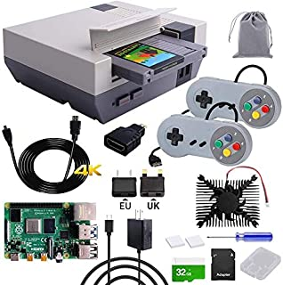 owootecc RETROFLAG NESPi 4 Caja con Raspberry Pi 4 4GB, SSD, USB cable juego Contoller, tarjeta SD de 32 GB, ventilador de...