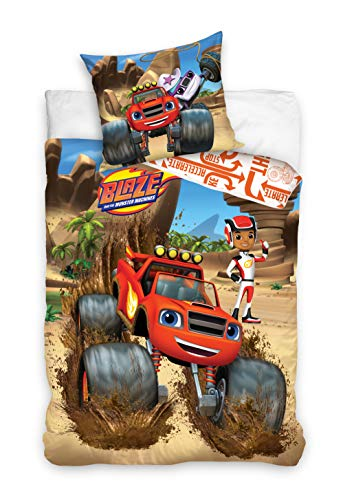 Carbotex BMM202006 Blaze and The Monster Machines - Juego de cama infantil (160 x 200 cm + 70 x 80 cm)