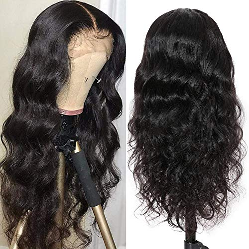 360 Body Wave Lace Frontal Wig Pre Plucked with Baby Hair Brazilian Lace Front Human Hair Wigs for Women Unprocessed Virgin Human Hair Wigs 150% Density Natural Hair Line