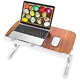 TaoTronics Klappbarer Schoßschreibtisch, Bett Schreibtisch, höhenverstellbar, tragbares...