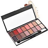 Amiley hot sale 16 Colors Pearl Matte Eyeshadow Eye Shadow Palette & Makeup Cosmetic Brush Set Fashion gift (A)