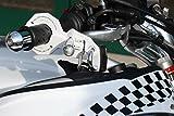 Anti-Diebstahl kombiniert für Motorrad und Helm Standard Weiss mit Abus-padlock