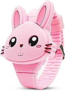 Girls Digital Watches for Kids,Cute Rabbit Shape Christmas New Year Girls Boys
