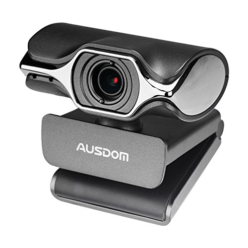 Webcam 1080P Full HD, AUSDOM AW620 Manual Focus Video Camera with Dual Microphone for Skype YouTube Live Streaming, USB Web Cam Plug and Play, Compatible with Mac OS, Android and Windows 10/8/7/XP