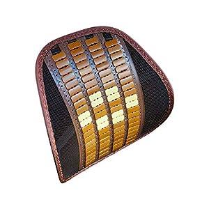 WANYANG – Cojín de masaje lumbar transpirable para la cintura del coche con asiento de verano, respaldo de malla, cojín…