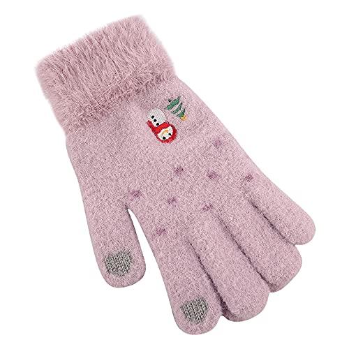 YOUQQI Damen Handschuhe für den Winter Touchscreen Handschuhe Elastische Manschette Thermo-Handschuhe Gestrickt Warm rutschfest für Touchscreens