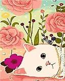 MBYWQ Peinture Numero des Animaux De Tigre Dessin par Numéros De Décoration Abstraite Accueil Photos À Colorier Peinture par Numéros pour Enfants Cadeau Bourgogne(sans Cadre)