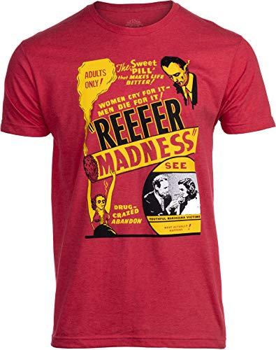 Reefer Madness (1936 Poster) | Funny Absurd Vintage Drug War Marijuana Weed Pot Propaganda Men Women T-Shirt