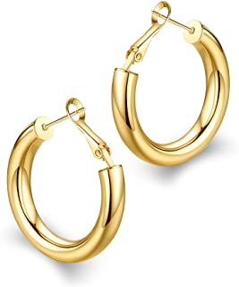 5277f147a6f8e Amazon.com: thick hoop earrings