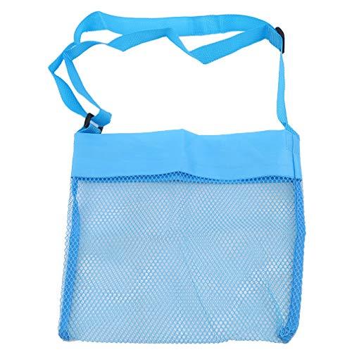 Hengxing - Bolsas para juguetes para niños, bolsa de playa de malla, bolsa de picnic para acampar, azul (Azul) - Hengxing