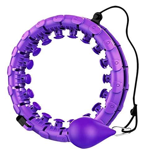 Hula-Hoop Intelligenter Fitness-Reifen mit Trägheitsball, Yoga-Reifen, Gewichtsverlustmassage, Übungsgeräte, abnehmbarer Zentrum des Schwerkraftrings Gewichteter Fitness-Hula-Hoop ( Color : Violet )