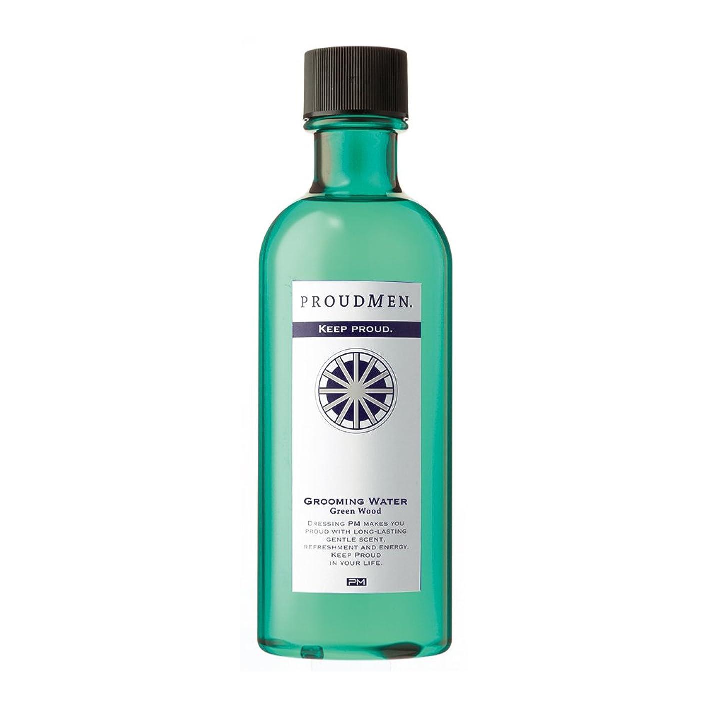マーカーバスタブ放散するプラウドメン グルーミングウォーターGW 200ml (グリーンウッドの香り) 全身 ボディローション