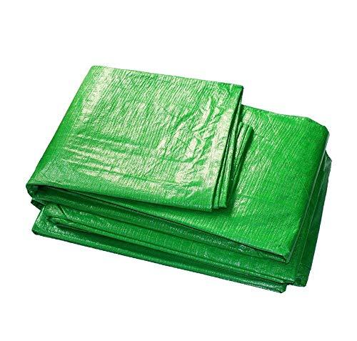 YLCJ dekzeil voor boot, camper of zwembad cover regendicht plastic zeildoek zonwering lampenkap doek strip, dekzeil voor auto's Outdoor parking (groene kleur) ZQG (Afmetingen: 4 mx 6 m) 3 m x 4 m