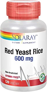 Solaray Red Yeast Rice 600mg | Healthy Heart & Cardiovascular System Support | Non-Irradiated & No Citrinin | Lab Verified...