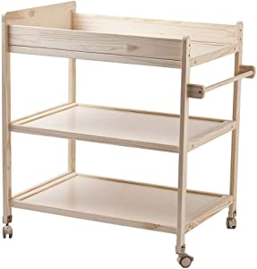 LGZW Wooden Baby Changing Table  Baby Storage Space Baby Massage Station Organizer Dressing Table  Massage Station Nursery Organizer