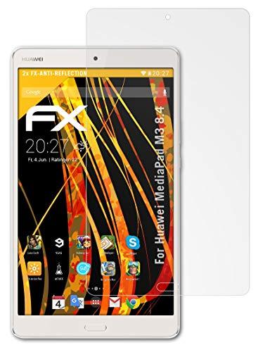 atFolix Panzerfolie kompatibel mit Huawei MediaPad M3 8.4 Schutzfolie, entspiegelnde & stoßdämpfende FX Folie (2X)