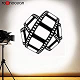BailongXiao Kino wandtattoo Film mit Logo Band Movie Poster heimkino Dekoration spielzimmer Vinyl Aufkleber Video Film Studio kunstwand 50,4 cm X 51,6 cm