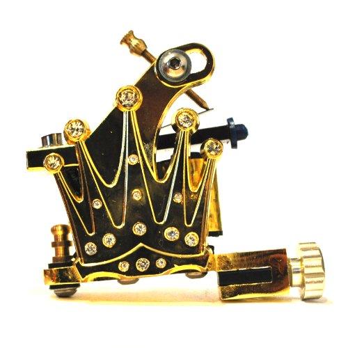 Goldene Krone Tattoo-Maschine/Tätowiermaschine (Gold Crown Tattoo Machine) (DNGU00450)
