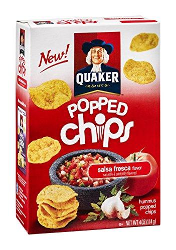 Quaker Popped Chips, Hummus, Salsa Fresca Flavor, 4 oz (Pack of 8)