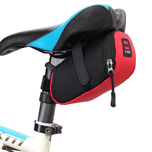 Demiawaking Sacchetto di Sella di Immagazzinaggio Impermeabile della Bici Tasca Posteriore in Coda per Il Sedile (Rosso)