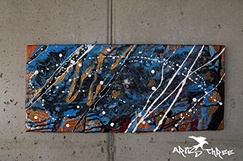 Acryl Bild auf Leinwand *handgefertigtes Einzelstück, 25 x 58 cm