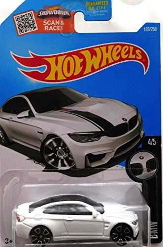 Hot Wheels 2016 BMW M4 WHITE 189/250 (Long Card) …