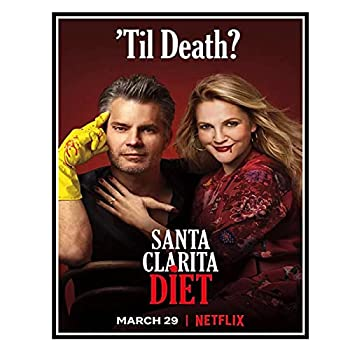 BUIIKC Santa Clarita Diet Tv Series Poster Canvas Prints Wall Art Pictures Prints On The Wall Home Decor Decoration Gift -50X70cm No Frame 1 Pcs Stock