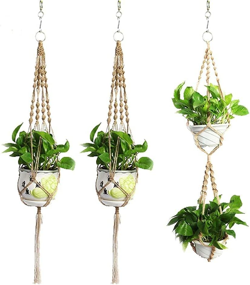 Macrame Plant Hangers Set of Ranking TOP4 3 Outdoor Planter Hanging S 2021new shipping free Indoor