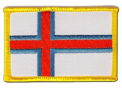 Aufnäher Patch Flagge Färöer-Inseln - 8 x 6 cm