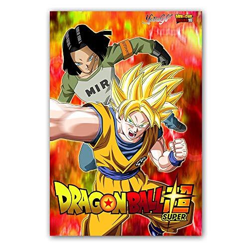 Poster und Druck Classic Cartoon Anime Dragon Ball Super Saiyajin Goku Ultra Instinct Leinwand Malerei Wandbild Wohnzimmer 80 * 120cm