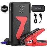 JUMTOP Booster Batterie Voiture 3000A Peak 22000mAh Chargeur Batterie Voitures (10L Gas/8L Diesel Engine) Portable Car Jump Starter Chargeur de - Chargeur de Banque téléphone USB LED