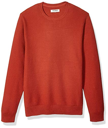 Amazon Brand - Goodthreads Men's Soft Cotton Thermal Stitch Crewneck Sweater, Rust XXX-Large Tall