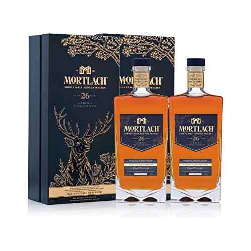 Mortlach Juego de 2 vasos de whisky, edición limitada de 26 años, whisky, alcohol, botella de 45,8 %, 2 x 700 ml