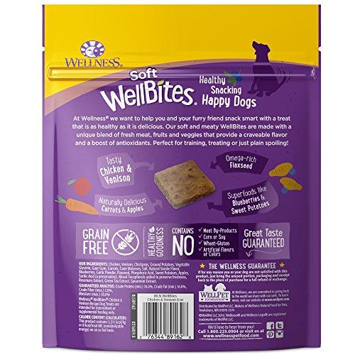 Wellness Soft Wellbites Natural Grain Free Dog Treats, Chicken & Venison, 6-Ounce Bag