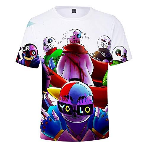 CCTXUE Magliette T-Shirts Stampa 3D Uomo Donna Neutro Tops Poliestere/Cotone Rapida Asciugatura Rapida Ventilazione Soft Casual Maniche Corte Undertala XXXL