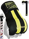 EMRAH Cinta Boxeo Vendas Mano Muñeca Elasticas Interiores Guantes MMA Envolturas Vendaje Kick Boxing -X (Medio, Negro)